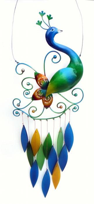 Blue HandWorks Peacock Chime