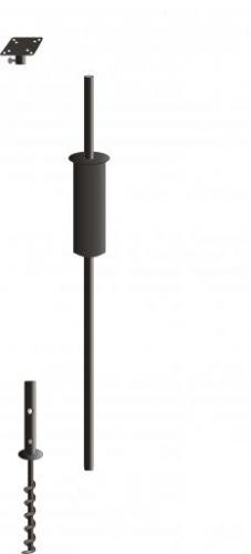 Birds Choice Complete Pole Package with 1 Mounting Flange