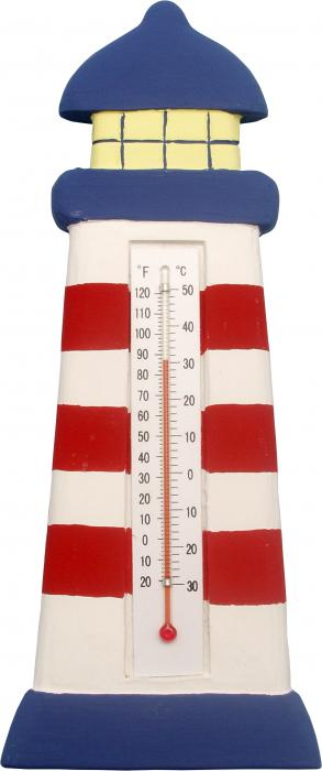 Songbird Essentials Thermometer Lighthouse Red and White Stripe