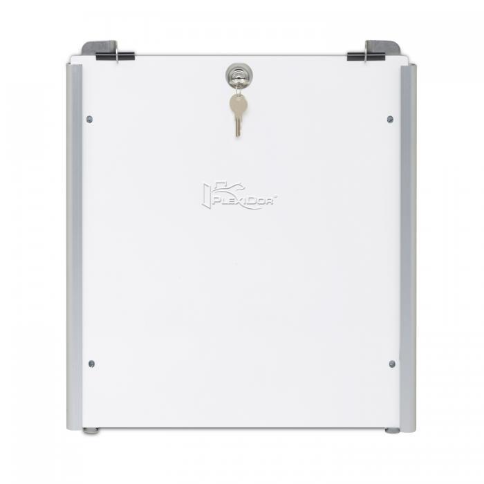 PlexiDor Performance Pet Doors Medium Sliding Track Security Plate, Silver