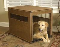 "Simpson Ventures Mr. Herzher's Pet Residence - Dark Brown Wicker - S 24""L X 18""W X 21""H"