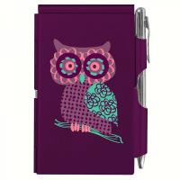 Wellspring Flip Note Purple Owl