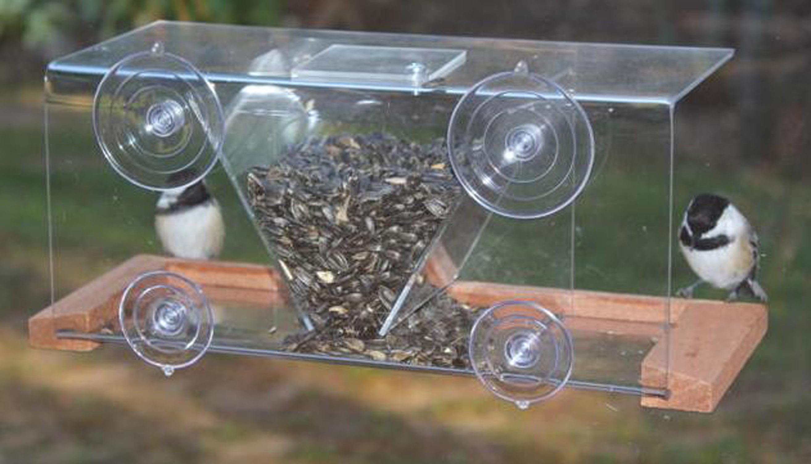 Mirror window bird feeder - Songbird Essentials Window Bird Feeder 8