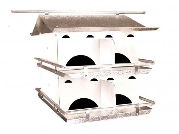 Starling Resistant Purple Martin House - 2 Floor/8 Room (Assembled)
