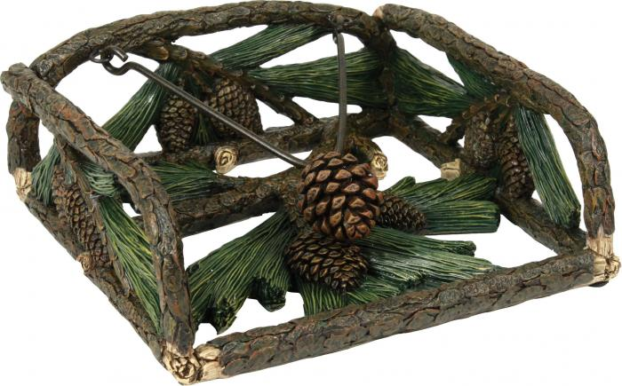 Rivers Edge Products Pine Cone Resin Napkin Holder