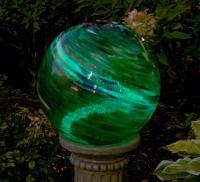 Echo Valley 10 inch Green Swirl Illuminaire Gazing Globe