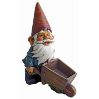 Design Toscano Wheelbarrow Willie Garden Gnome Statue