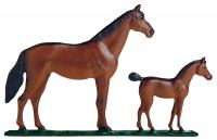 "30"" Mare & Colt Weathervane - Rooftop Color"