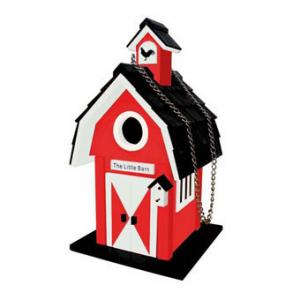 Home Bazaar The Little Barn Birdhouse - Red