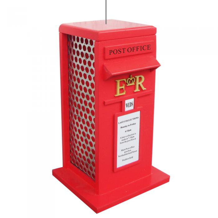 Home Bazaar British Inspired Royal Mail Box Bird Feeder