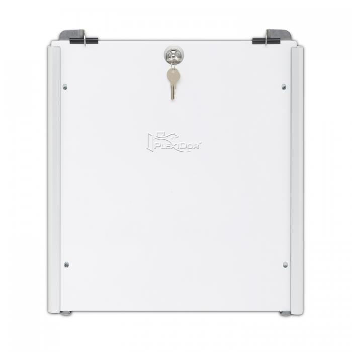 PlexiDor Performance Pet Doors Medium Sliding Track Security Plate, White