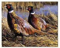 Counter Art Game Birds Glass Cutting Board 12x15