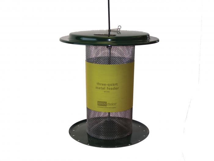 Birds Choice 3 Quart Metal Nyjer Bird Feeder - Green