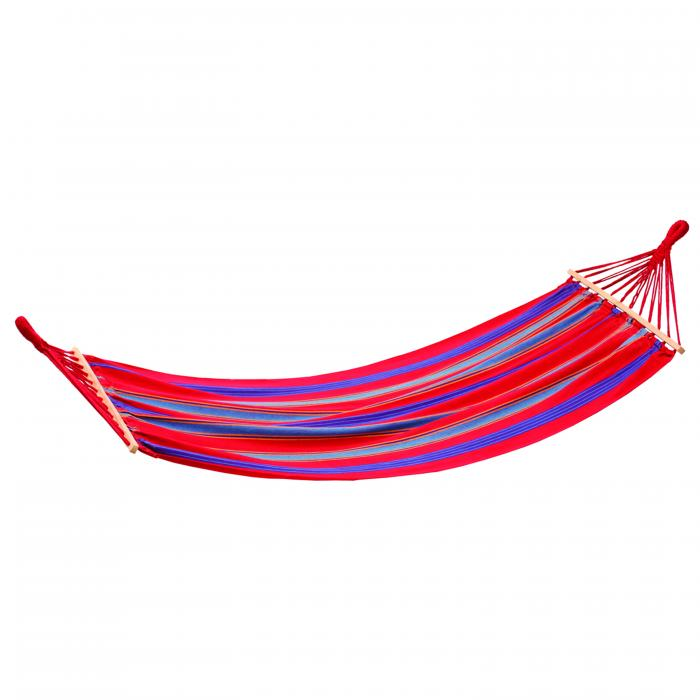 Stansport Bahamas Cotton Hammock - Single - Red - 78 In X 37 In