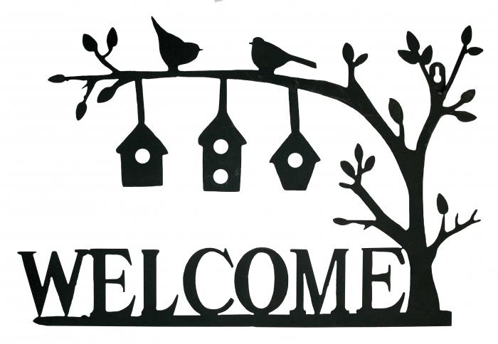 Gardman Welcome Birdhouses Wall Art