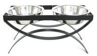 SeeSaw Double Elevated Dog Bowl - Medium