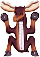 Songbird Essentials Climbing Moose Small Window Thermometer