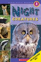 Scholastic Books Night Creatures