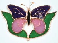 Gift Essentials Purple & Pink Butterfly w/Leaves Sun Catcher