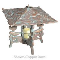 Chickadee Twilight Lantern - Oil Rub Bronze