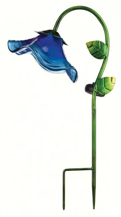 Regal Art & Gift Blue Solar Bell Flower Stake