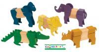 Guidecraft Block Mates Safari Animals