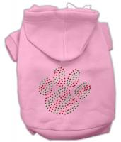 Holiday Paw Dog Hoodie Pink/Extra Small