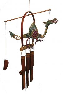 """Cohasset Imports Dragon """"Flame"""" Wind Chime"""
