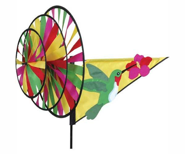 Premier designs hummingbird triple wind spinner for Garden spinners premier designs