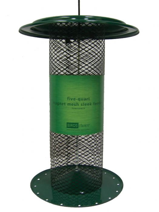 Bird's Choice 5 Qt.-Sleek-Green-Sunflower Bird Feeder