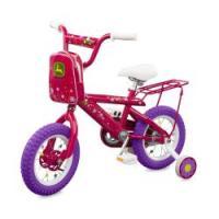 John Deere 12 Inch Girls Pink Bike