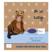 Dress Up America Cuddly Little Brown Bear Cape Costume Set - 12-24m