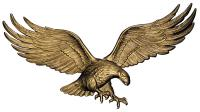 "Whitehall 36"" Wall Eagle - Antique Brass"