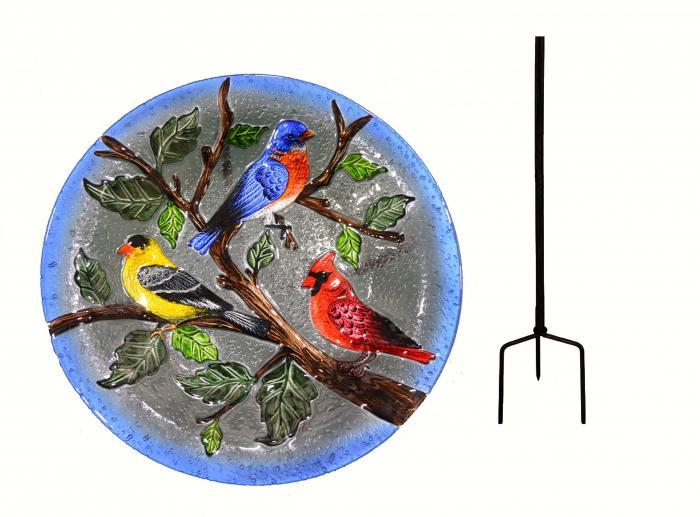 Songbird Essentials SE5007 Songbird Trio Staked Birdbath