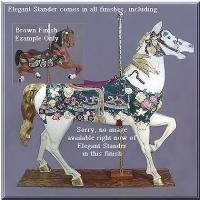 Elegant Stander Brown Carousel Horse