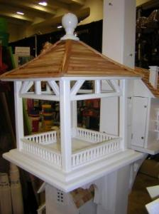 Home Bazaar Dream House Bird Feeder with Pine Shingle Roof