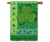 Magnet Works Happy St. Pat's Standard Flag Double Sided Message