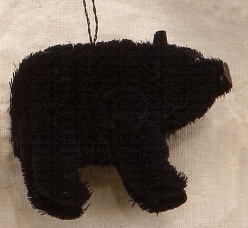 Brushart Bear Black Ornament