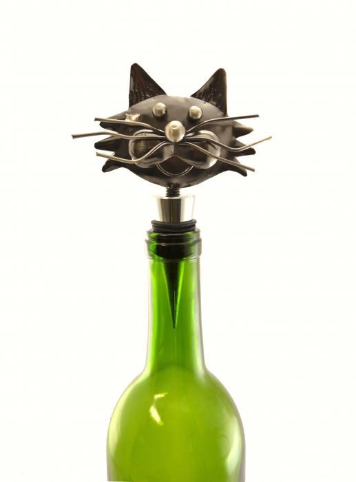 Three Star Cat Wine Stopper