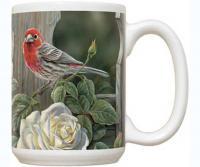 Fiddler's Elbow House Finch & Roses 15 oz Mug