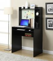 Convenience Concepts  Student Desk with Magnetic Bulleting Board (Black)