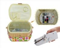 Lil Sew & Sew Handheld Sewing Machine And Sewing Basket