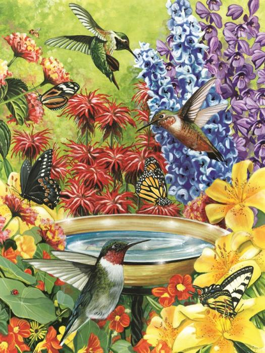 Outset Media Games Hummingbird Garden Puzzle 500 pcs