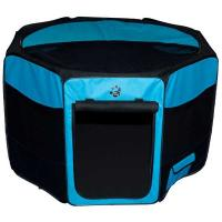 """Pet Gear Travel Lite Soft-Sided Pet Pen with Removable Top Ocean Blue 36"""" x 36"""" x 23"""""""