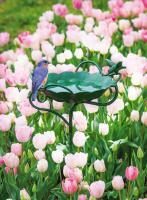 Evergreen Enterprises Metal Garden Stake Birdbath