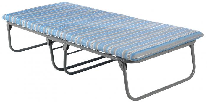 Blantex Heavy-Duty Steel Cot with Foam Mattress (375 Pound Capacity)