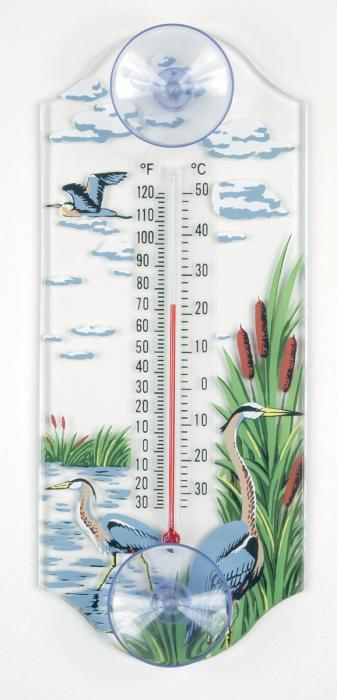Aspects Great Blue Heron Window Thermometer