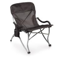 Picnic Time Extra Wide Camp Chair-Black
