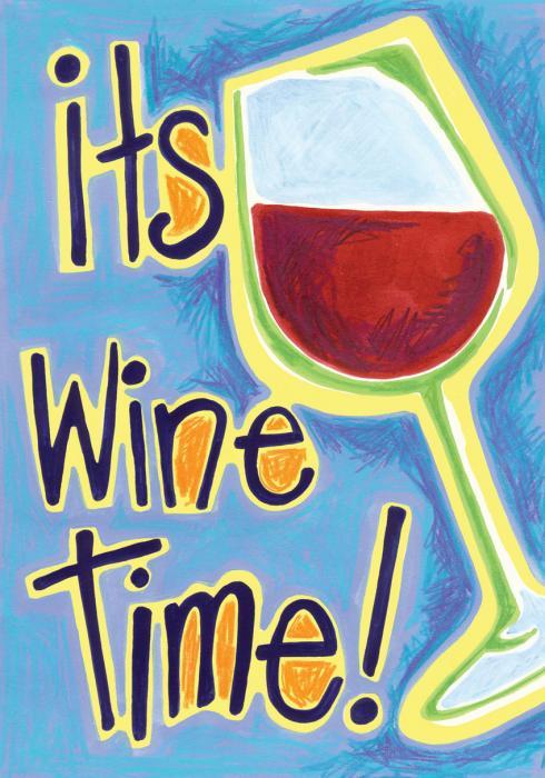 Toland It's Wine Time Garden Flag