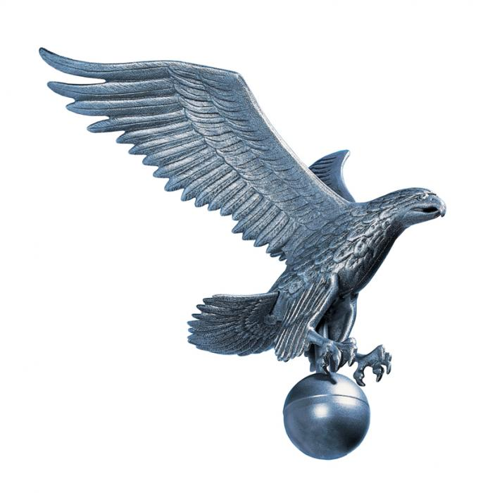 Large Flagpole Eagle - Pewter